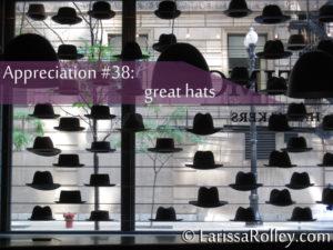 Appreciation #38: great hats