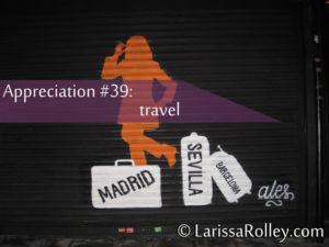 Appreciation #39: travel