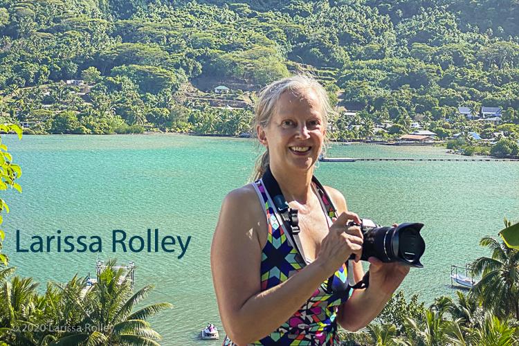 Larissa Rolley in Bora Bora